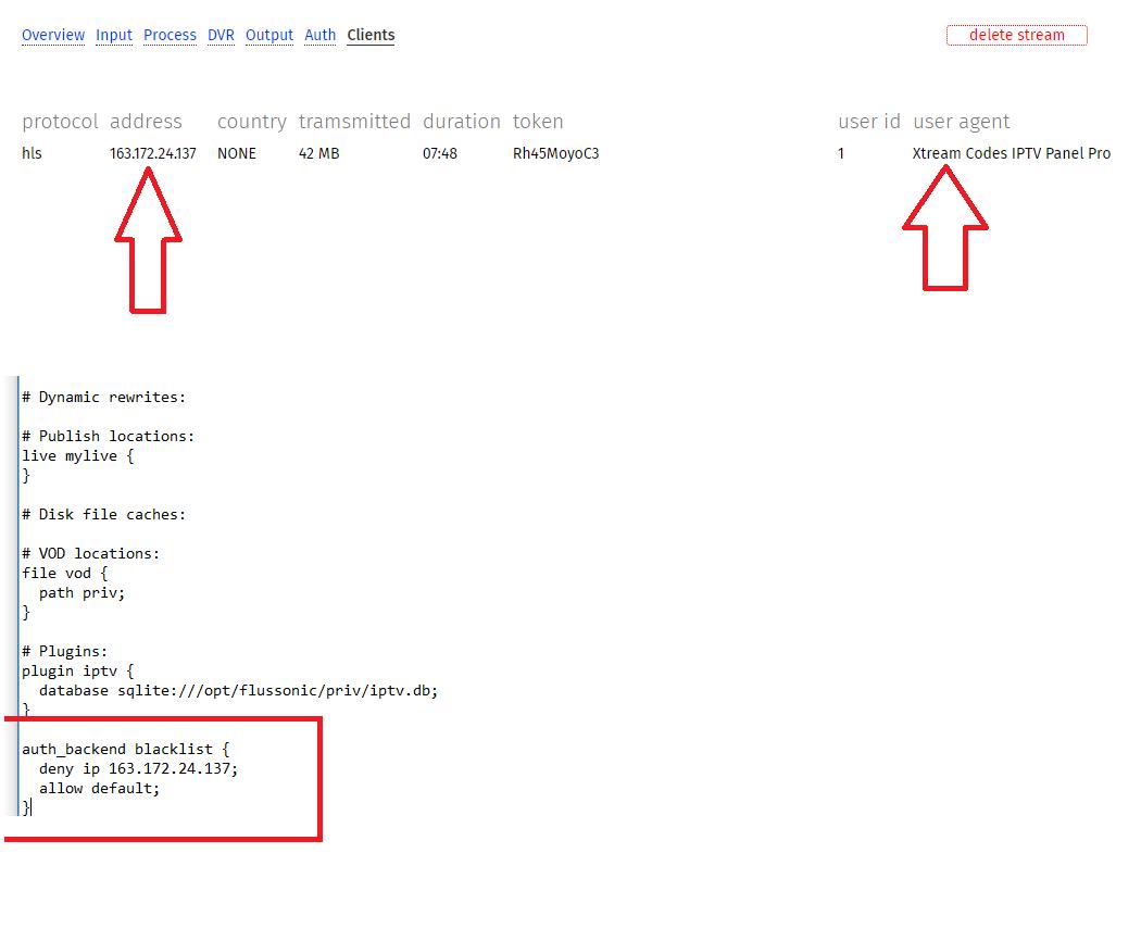 Flussonic IP Block don't Work! - Flussonic
